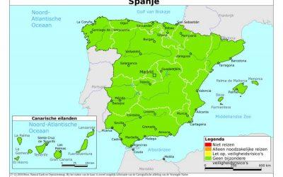 Aanpassing reisadvies en contact leggen met getroffen Nederlanders in Spanje