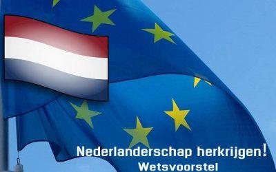 Wetsvoorstel herkrijgen van het Nederlanderschap en de modernisering nationaliteitswet