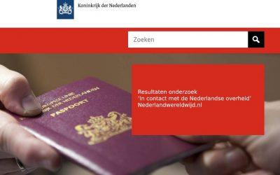 Resultaten onderzoek 'In contact met de Nederlandse overheid'